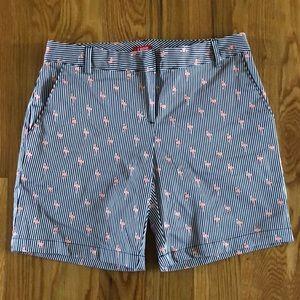 Izod Shorts Navy/White Stripe w/Pink Flamingos Sz2